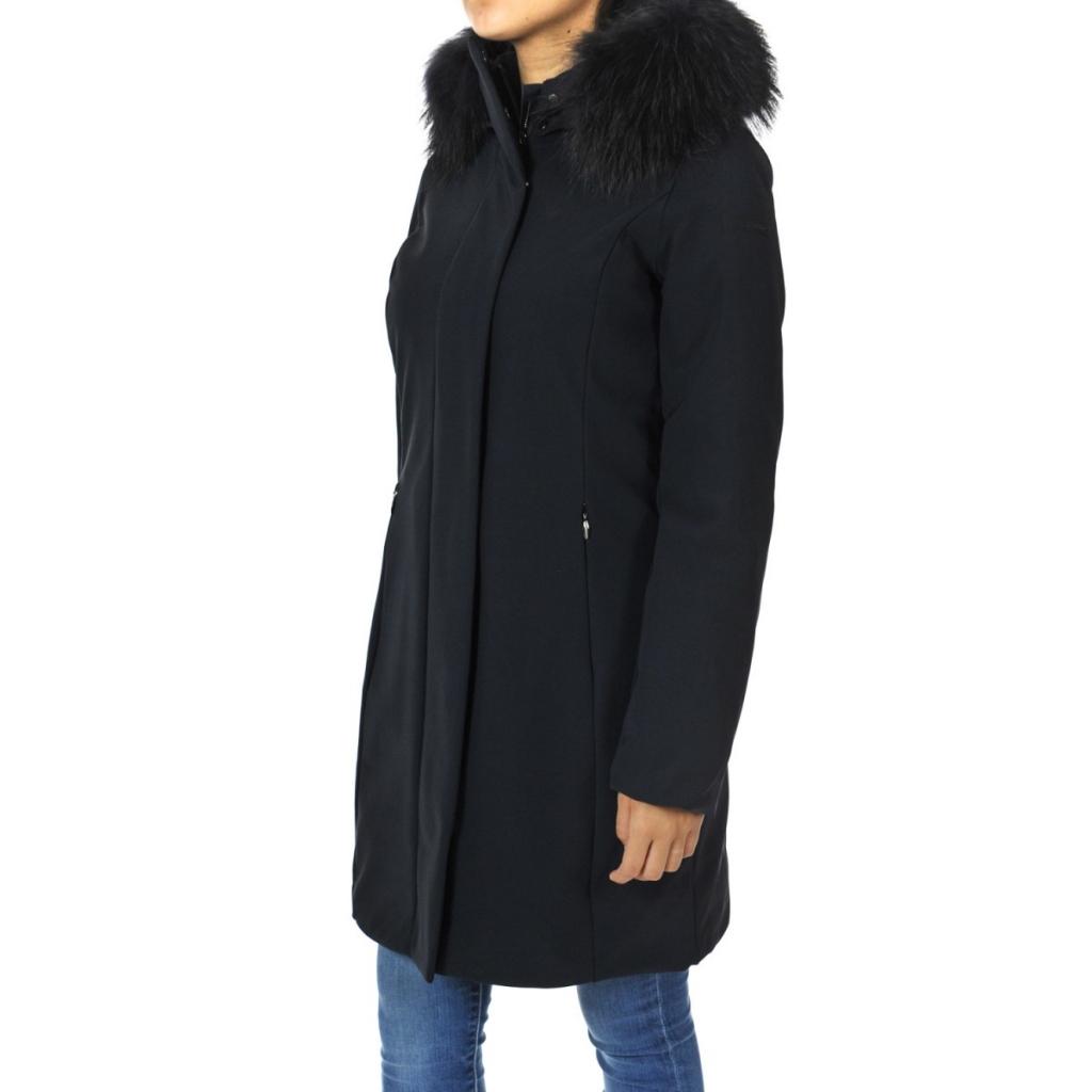 Winter Donna Fur Roberto Ricci Design Rrd 60 Longlady Blu Giacca a6TqFqU