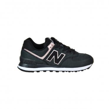 Scarpa New Balance Donna 574 Nubuck Lifestyle Nbk NBK BLACK