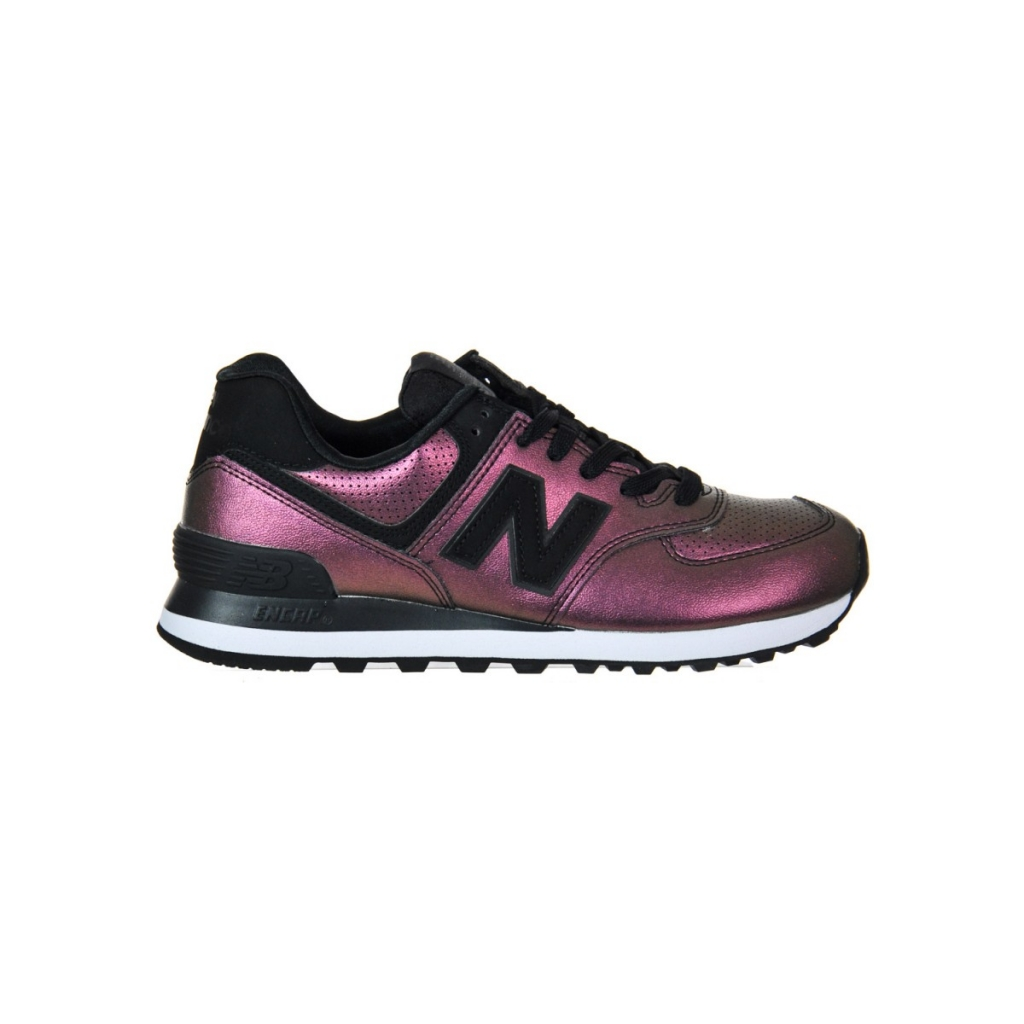 ... Scarpa New Balance Donna 574 Synt Leather Lifest Ksb KSB BLACK ... 0fb7380a682