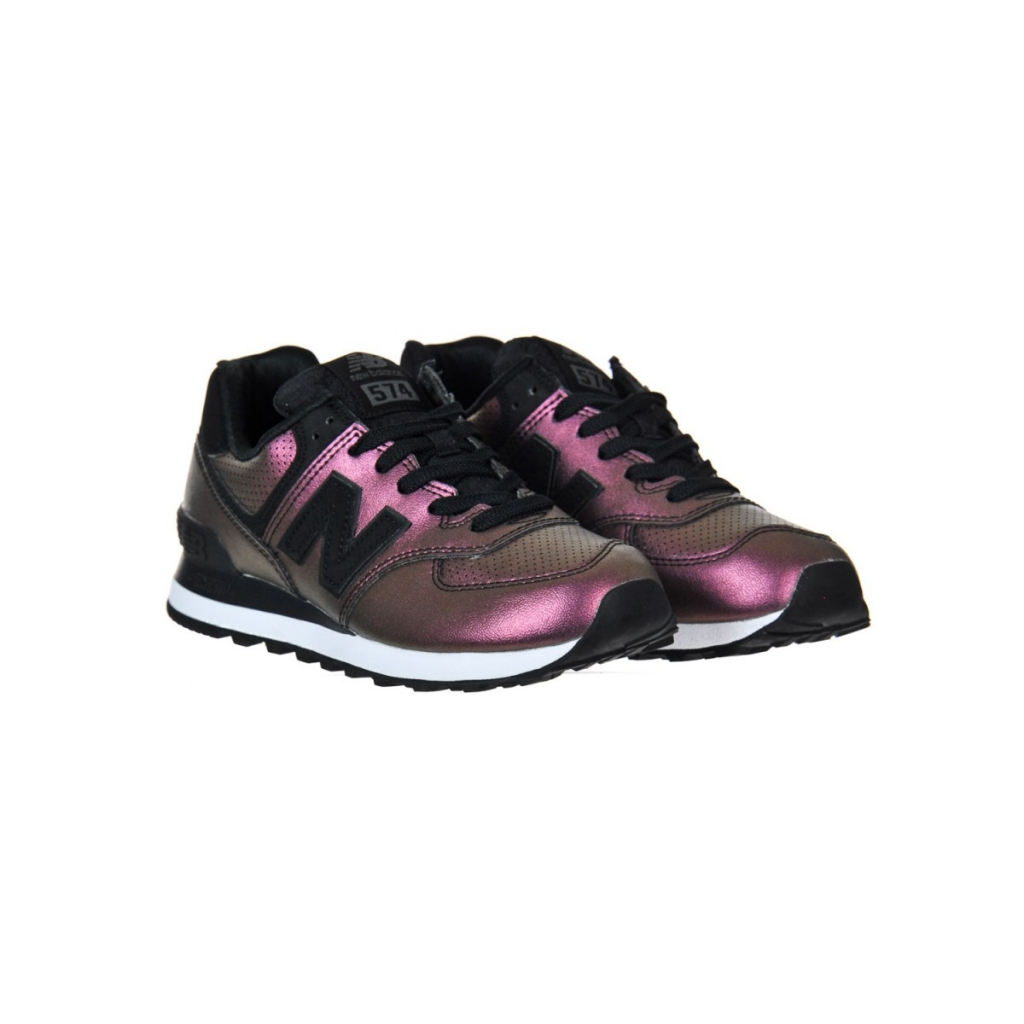 New Balance Women s Shoe 574 Synt Leather Lifest Ksb KSB BLACK ... 85b7e8f1513