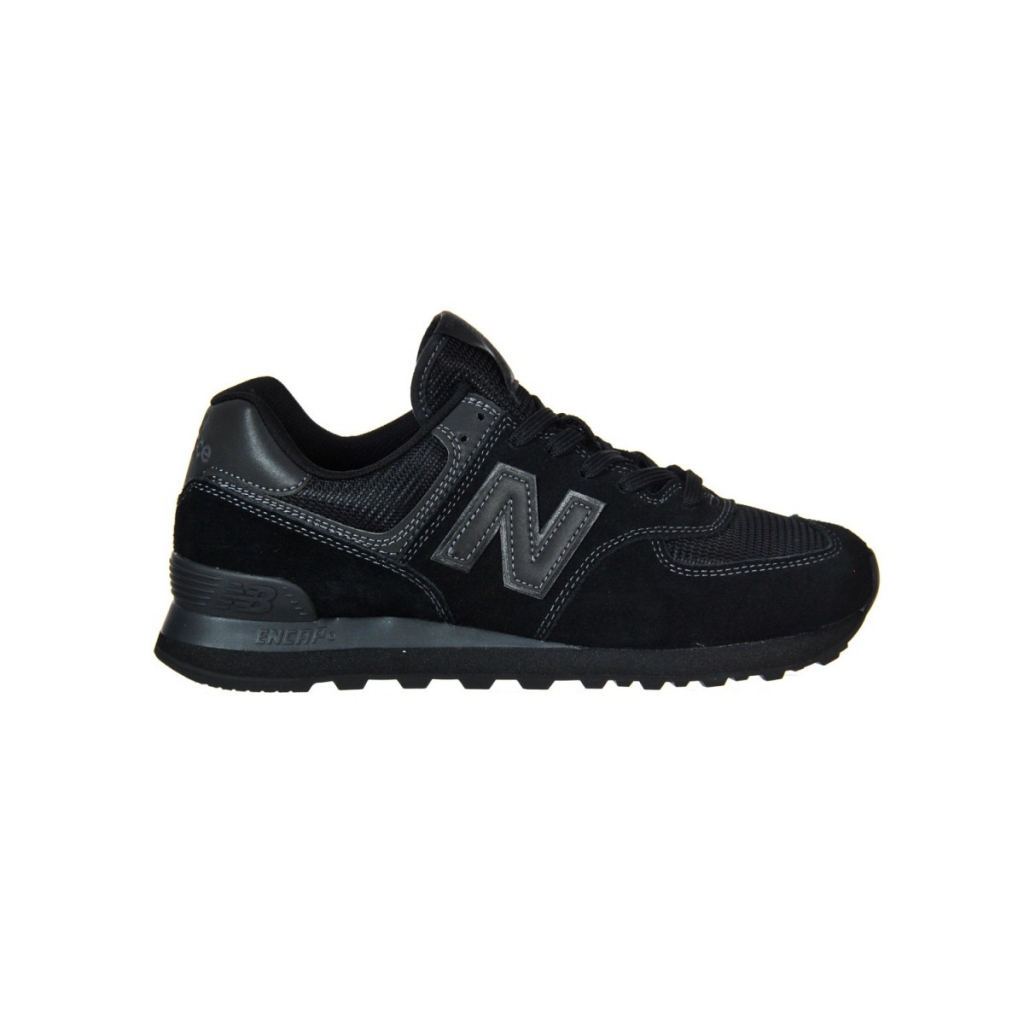89e3671b0e056 New Balance Men's Shoes 574 Suede Mesh Lifestyle Ete ETE TRIPLE BLACK