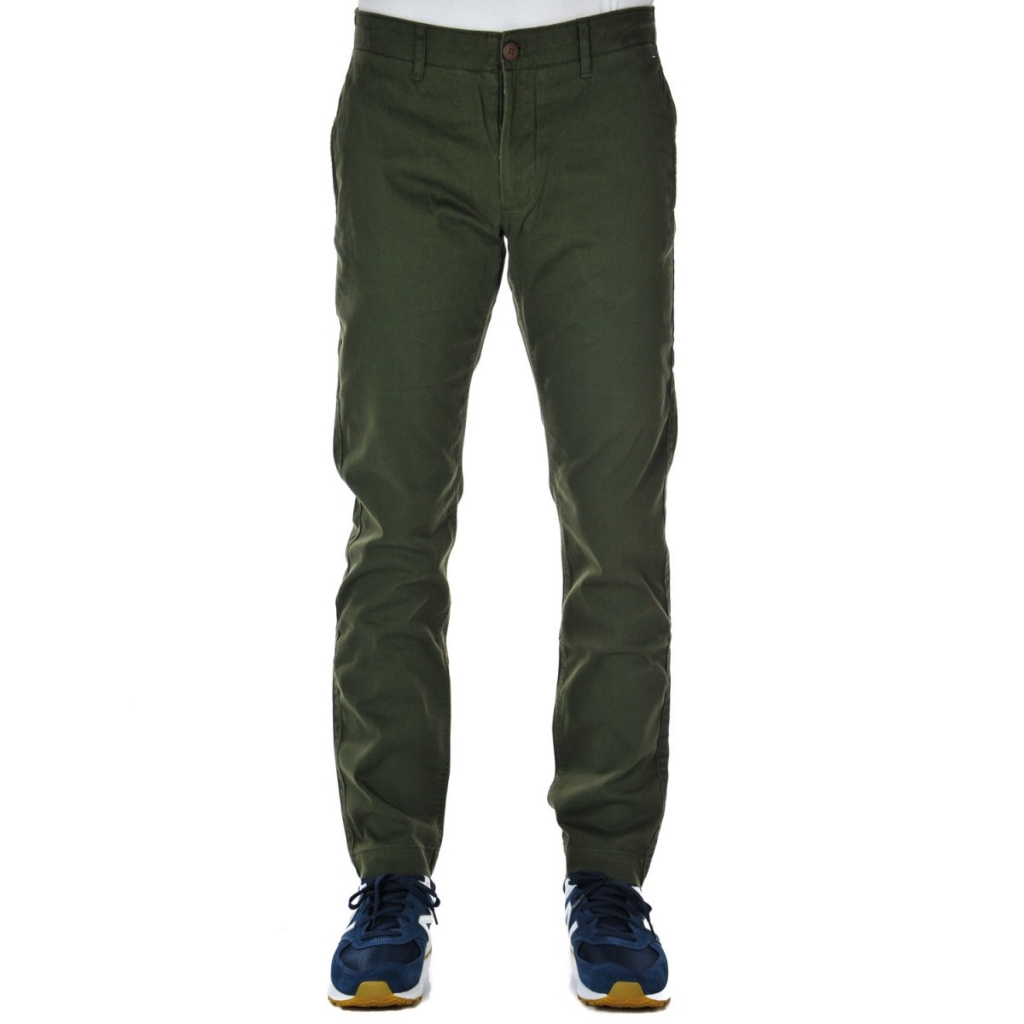 c9528b0aa5 Trousers Tommy Hilfiger Jeans Men Chino Slim Essent 397 FOREST NIGHT ...