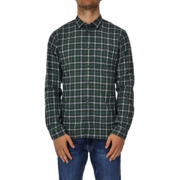 Camicia Tommy Hilfiger Jeans Uomo Check Heater 396 HUNTER GREEN