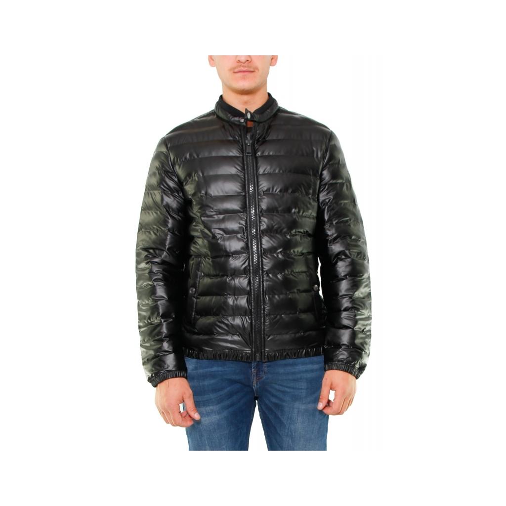 huge discount e166a cf95a SHORT DOWN JACKET STRETCH SEMI LUCIDO NERO | Bowdoo.com