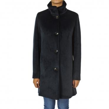Cappotto Roberto Ricci Design Donna Neo Velvet Coat 60 BLUE BLACK
